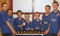 Jacob, Ace, Nicole, James, William, George and Michael with their medals