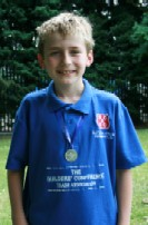 George with his silver medal