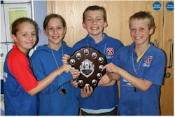 S&C swimmers with the  Inter County Primary Schools trophy